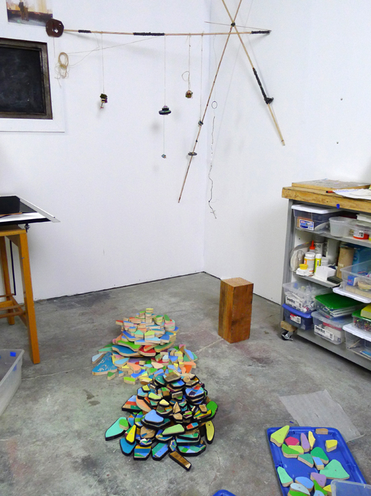 3 installations in studio, 2014