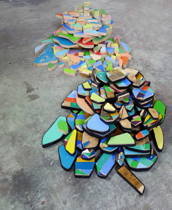 mosaic and fragmented mountains (portable landscapes)