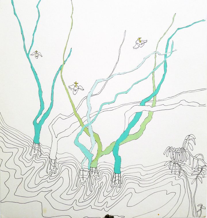 trees in water (work in progress)