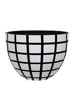 """GRC Pot - """"reid """"     black base & white Squares"""