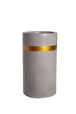 Colour Highlights             Cylinder GRC Pot            (With Gold metallic band)