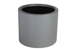Example of a grc cylinder planter in a light grey painted finish