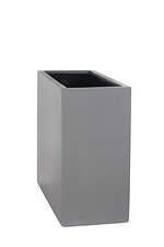 example of a terrace grc planter in a light grey painted finish