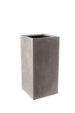 Tall square                grc planter        in raw concrete finish