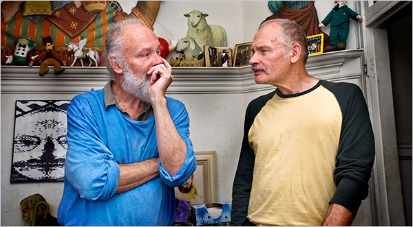 Mike Kuchar, left, and George, underground and avant-garde. Photo credit Patrick Siemer/IndiePix