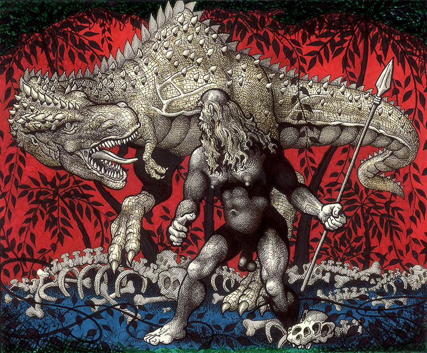 Mike Kuchar,  Man and Monster , 1980-1990. Courtesy of the artist; © Mike Kuchar