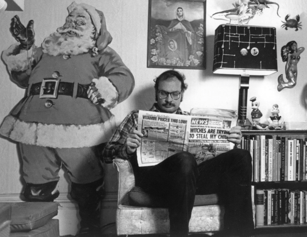 George Kuchar at home, around 1991.Credit: Michael Rudnick, via Photofest
