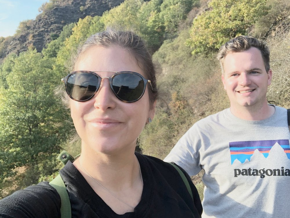 My hubs and I hiking in Cochem Germany. October 2018