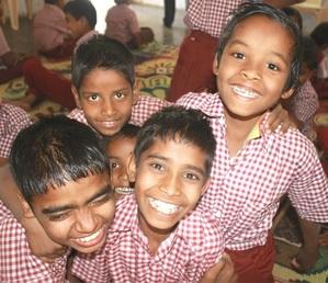 Rajesh, Mahesh (back), Kiran, Tirth