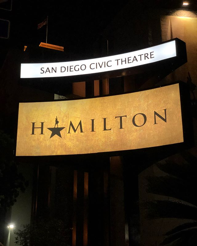 We were in the room where it happened // HAMILTON // 01.16.18 // #hamiltontour #broadway #sandiego @hamiltonmusical
