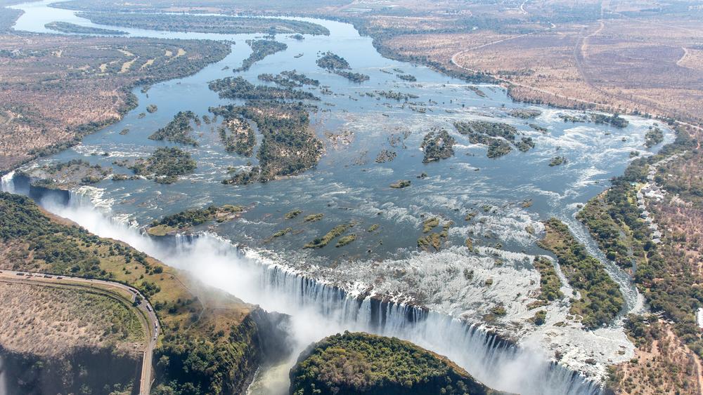Victoria Falls utenforLivingstone, Zambia