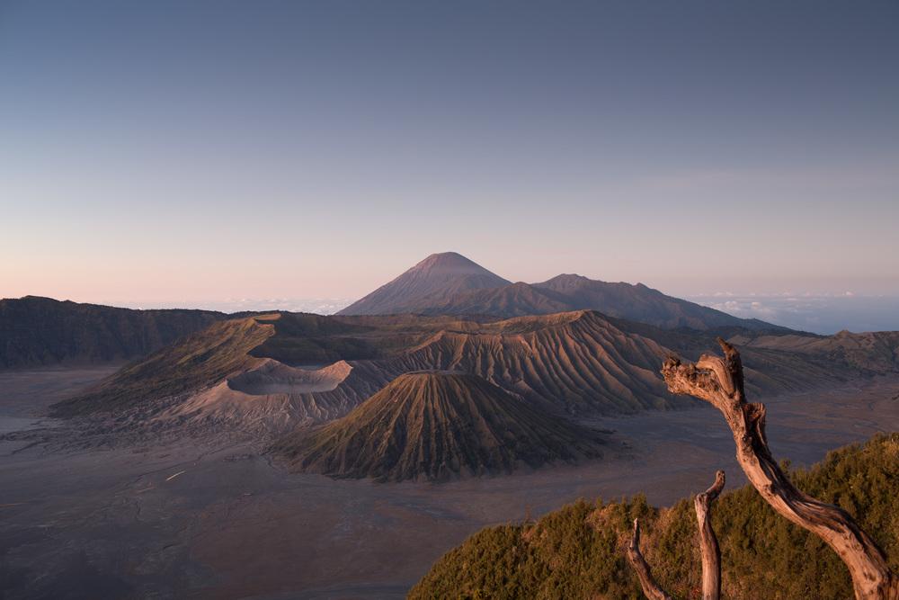 Mt. Bromo. En aktiv vulkan i Java, Indonesia