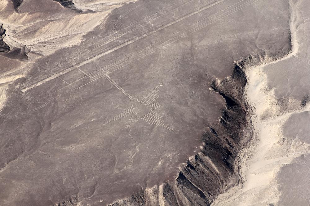 """""""The Hummingbird"""". Nasca linjene, Peru"""