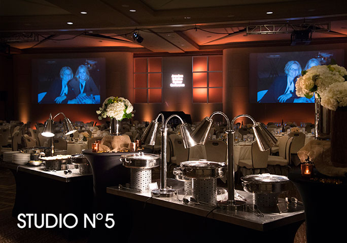 Dinner buffet service at The Buttes Marriott in Phoenix. Event photography.