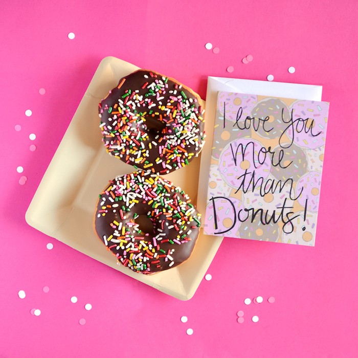 Floating Specks Donut Card on the Petite Party Studio Blog
