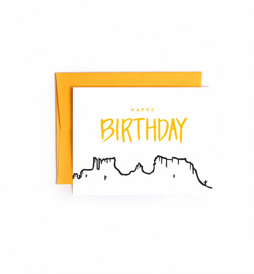 Mountain Birthday Card Floating Specks Co – Mountain Birthday Cards