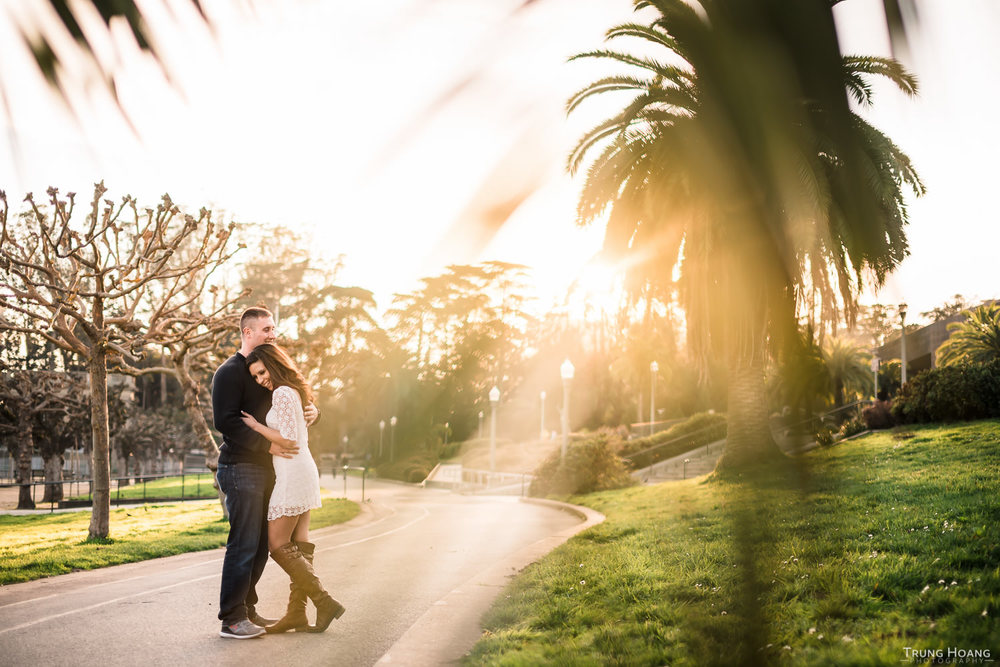 Golden Gate Park Engagement Photography