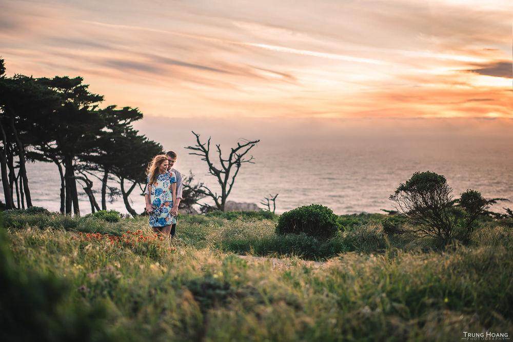 California Sunset Engagement Couple Photo