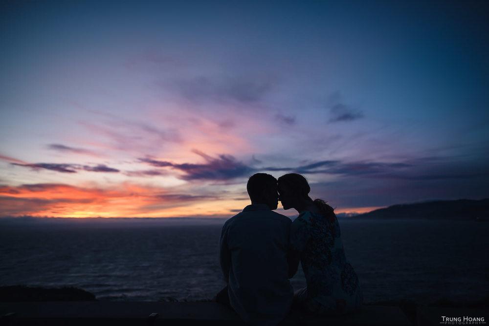 Romantic Sunset Couples Portrait