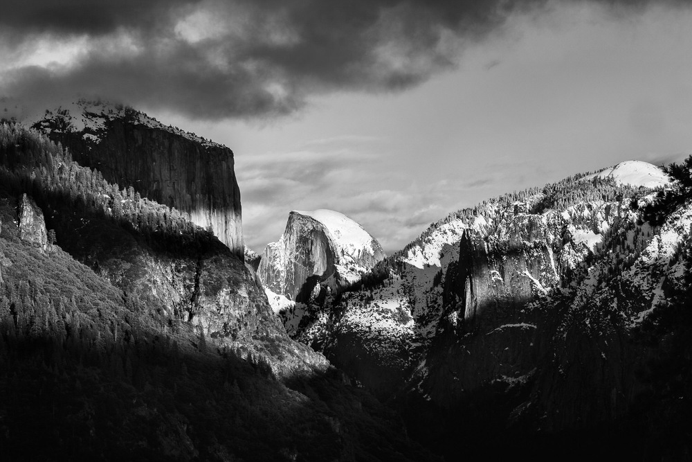 Ansel Adams inspired Dramatic Half Dome Yosemite