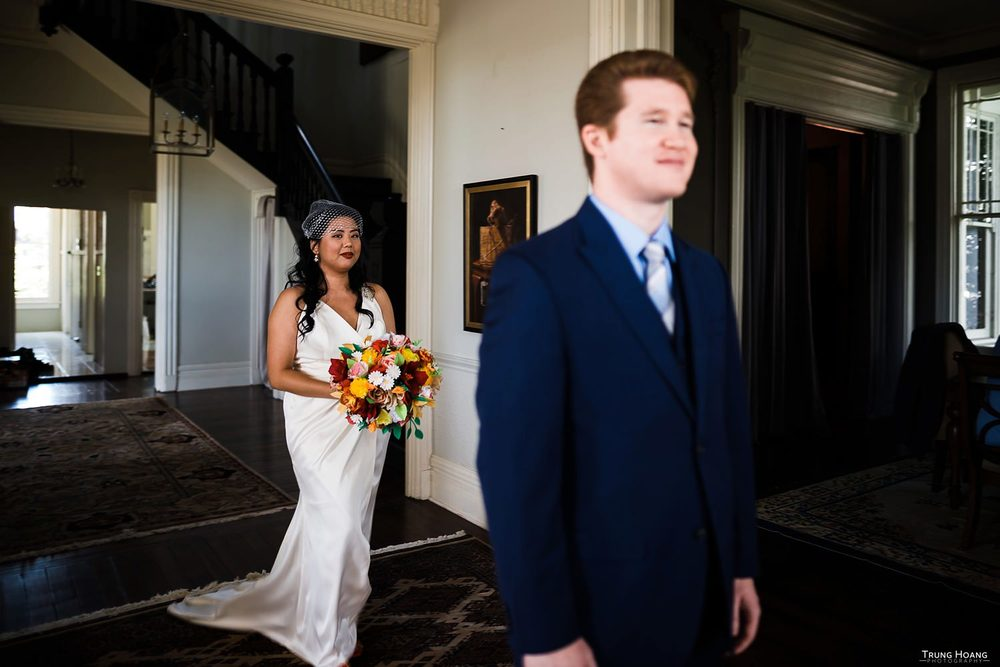 First look Oakland Wedding Photography