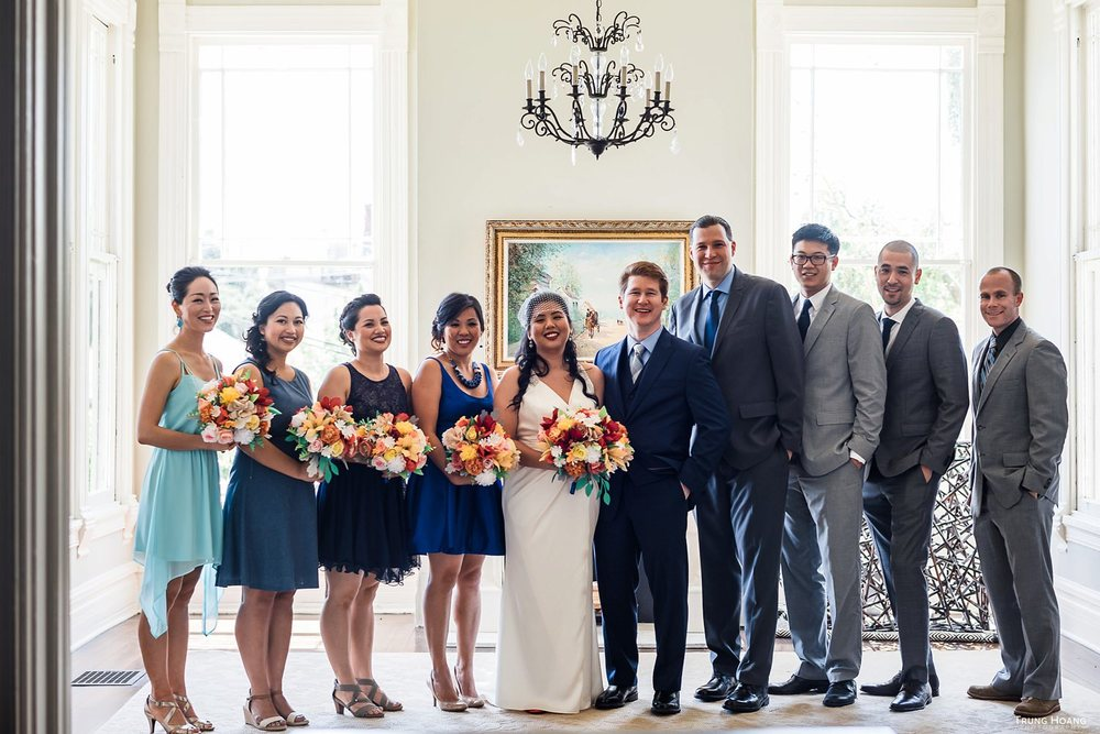 Historic home group portrait Oakland Wedding photography