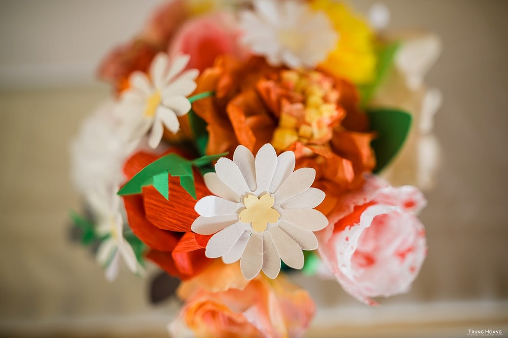 Handmade Paper Flowers Northern California Wedding Photographer
