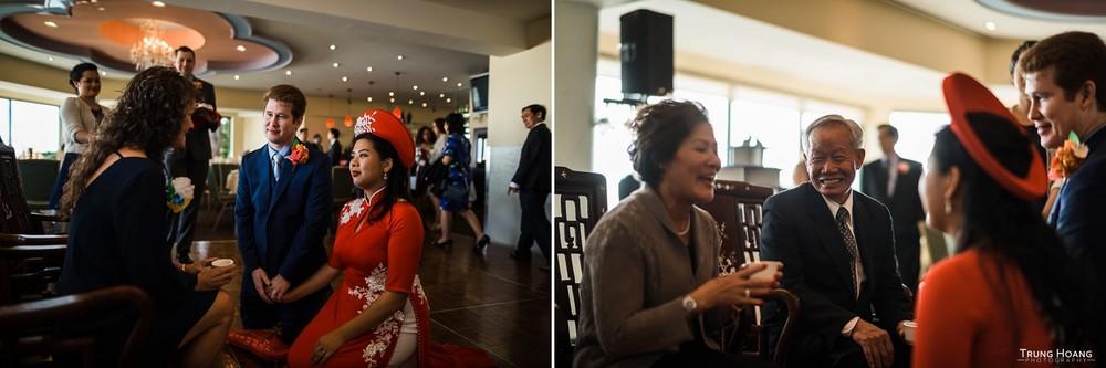 Bride in Ao Dai Vietnamese Wedding Photographer San Francisco