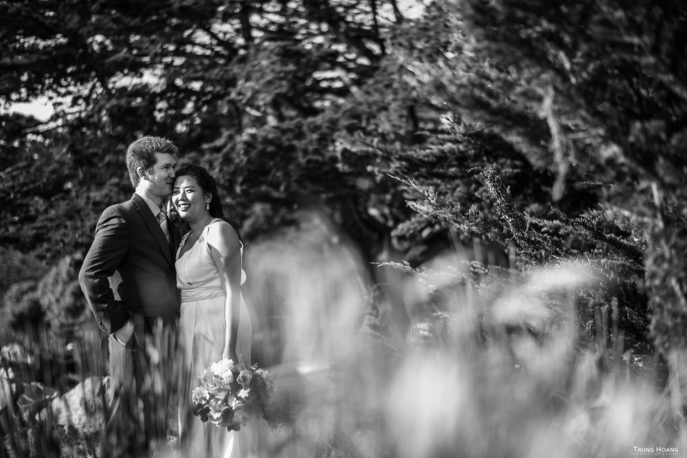 Cute black and white wedding photography