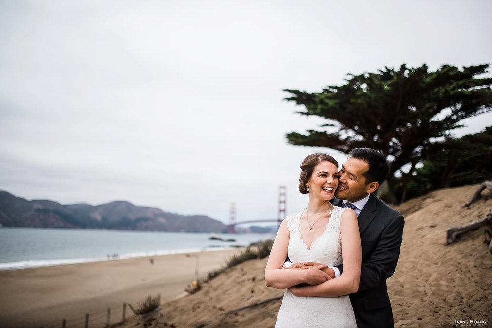 Golden Gate Bridge Wedding Photo