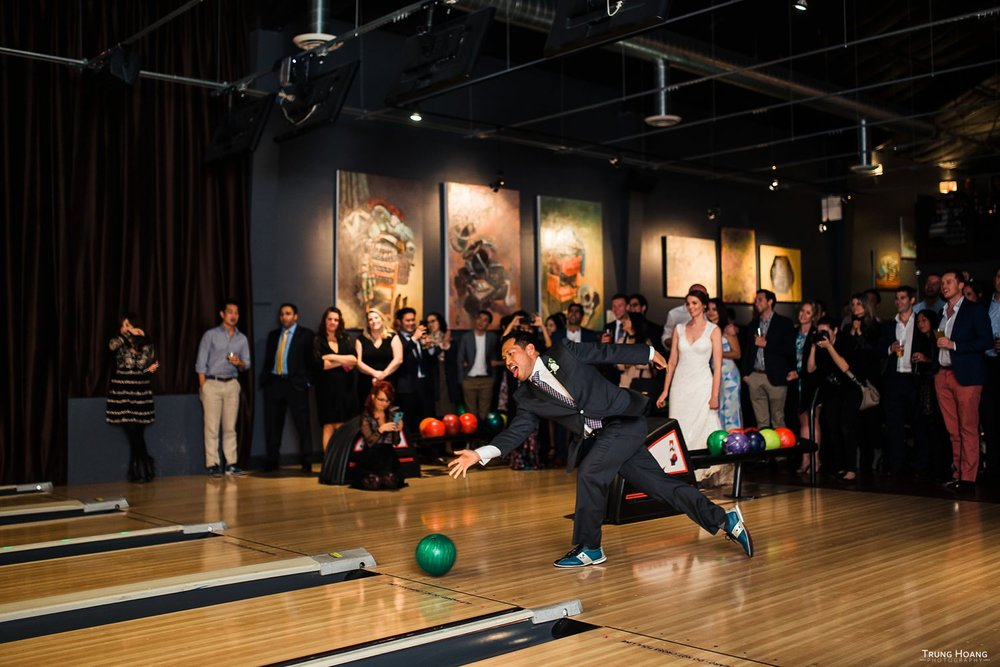 Bowling wedding reception