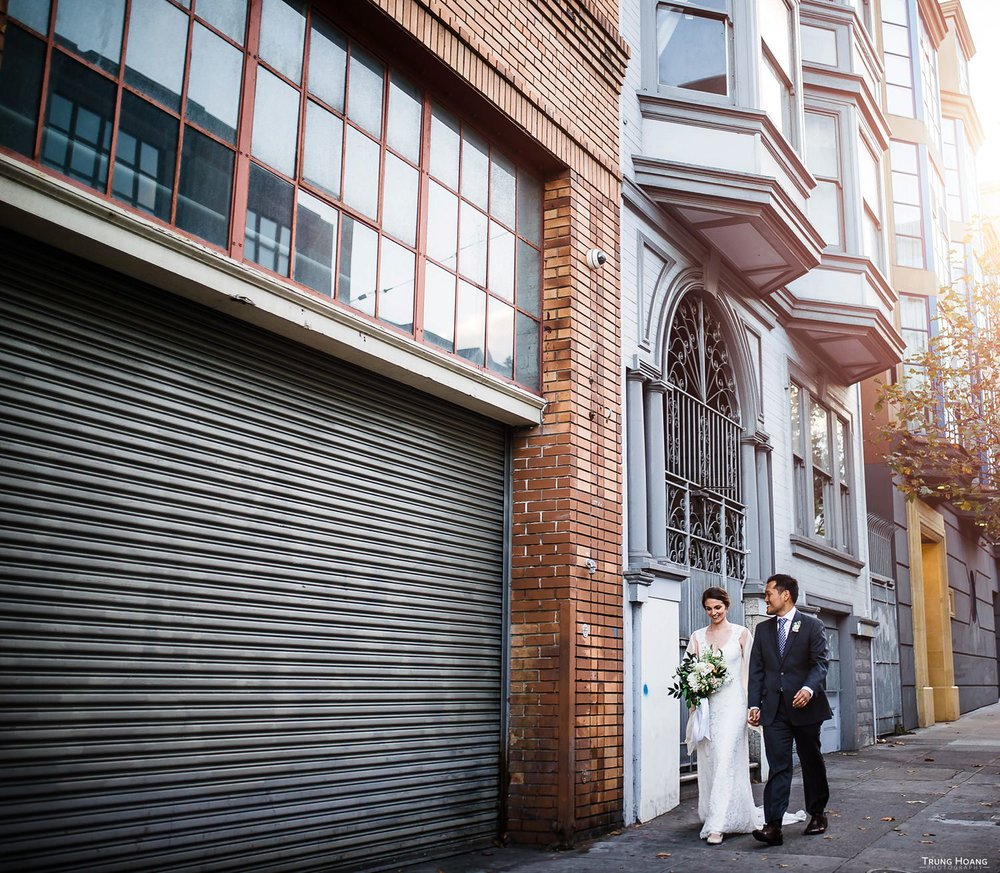 San Francisco Mission Bowling Club Wedding Couples Photos