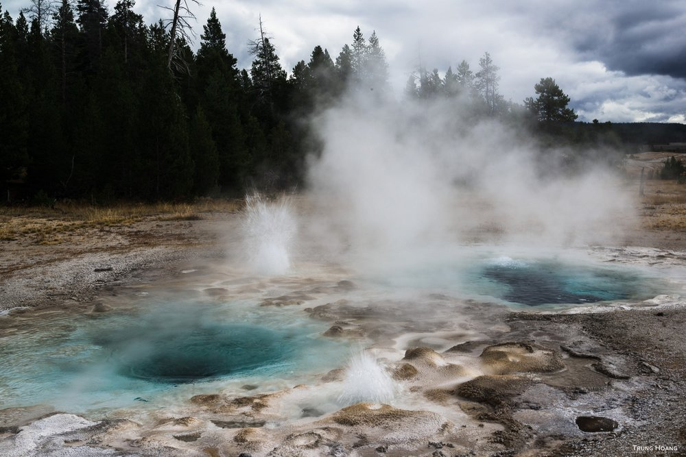 Spasmodic Geyser of Yellowstone's Upper Geyser Basin