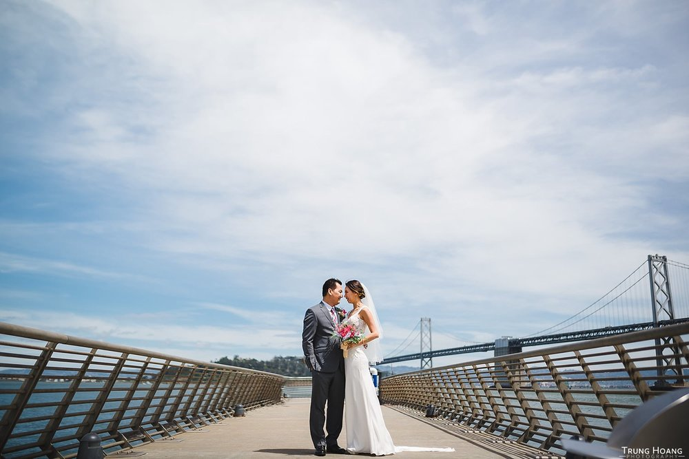 Pier 14 San Francisco Wedding Photo