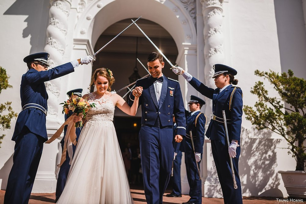Air Force Wedding Saber Arch