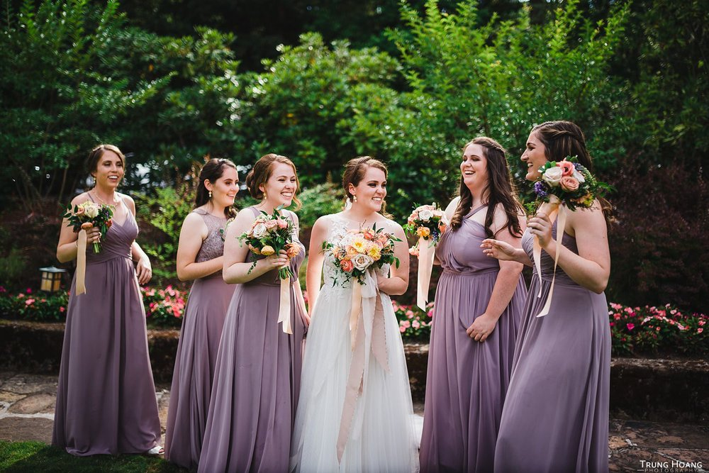 Fun candid bridesmaid photo