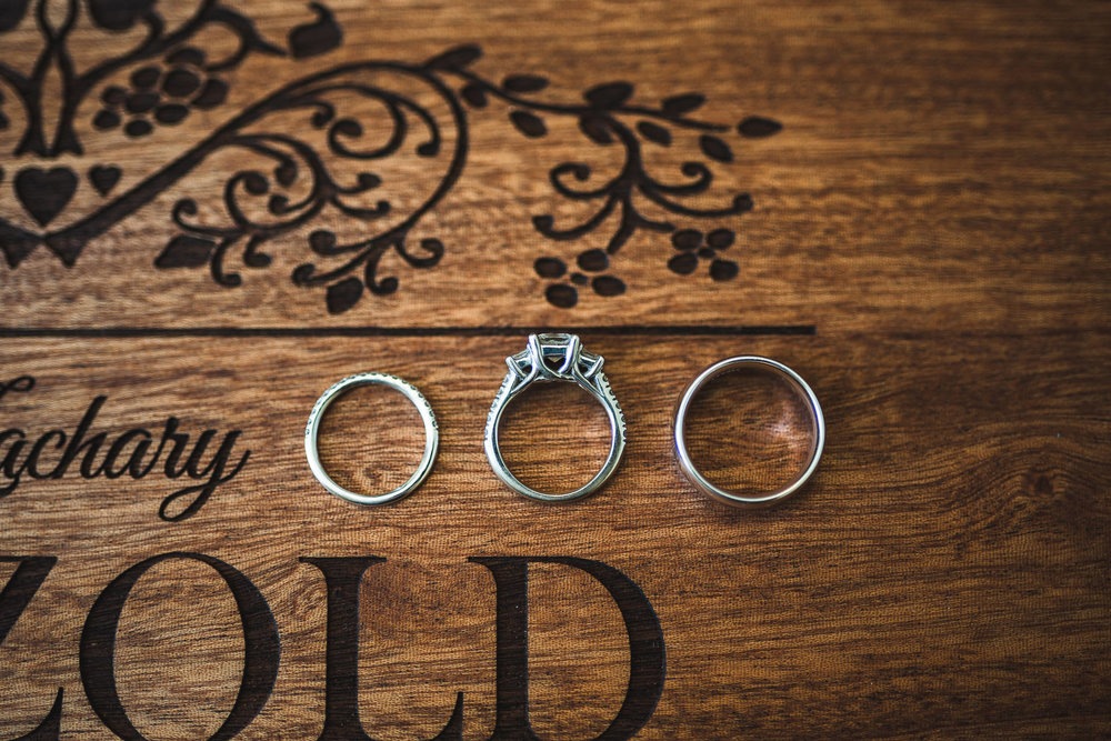 Flat lay Wedding Ring Photo