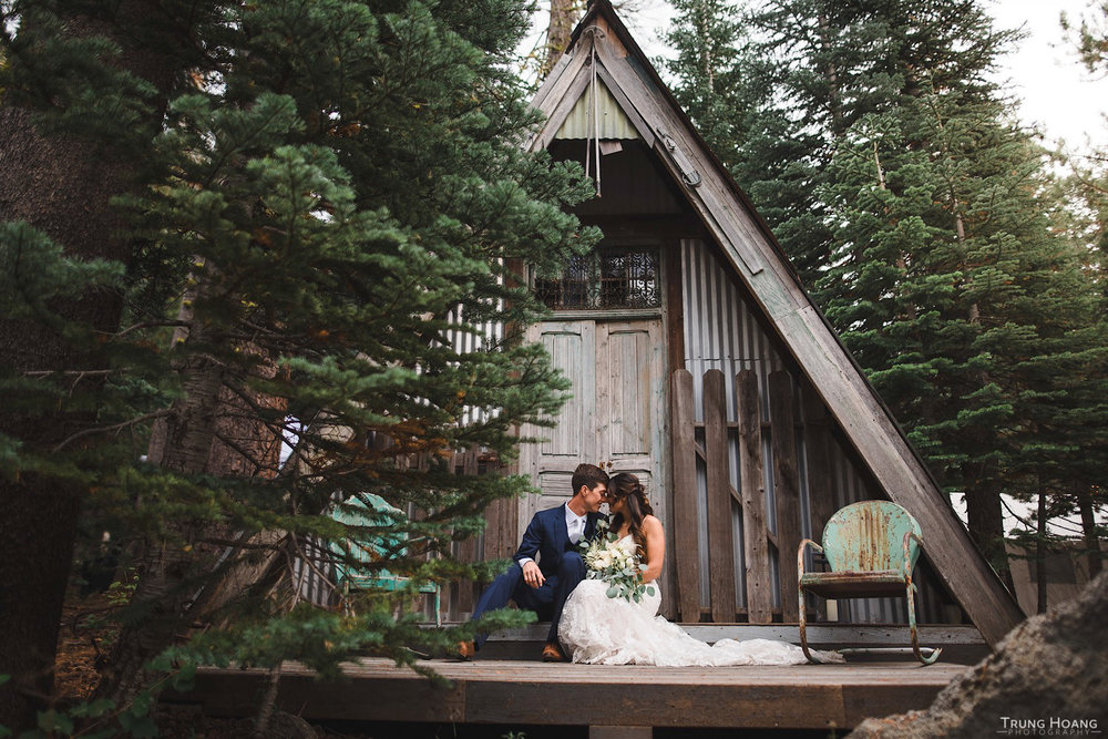 A-Frame Shed Couples Portrait