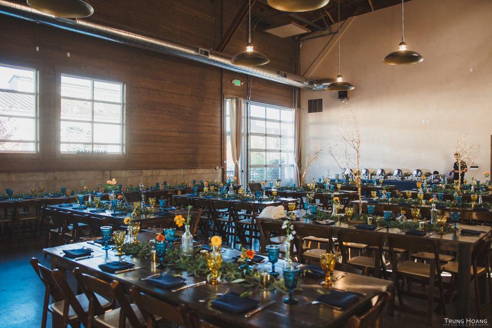 Farm Table Wedding Reception Dinner