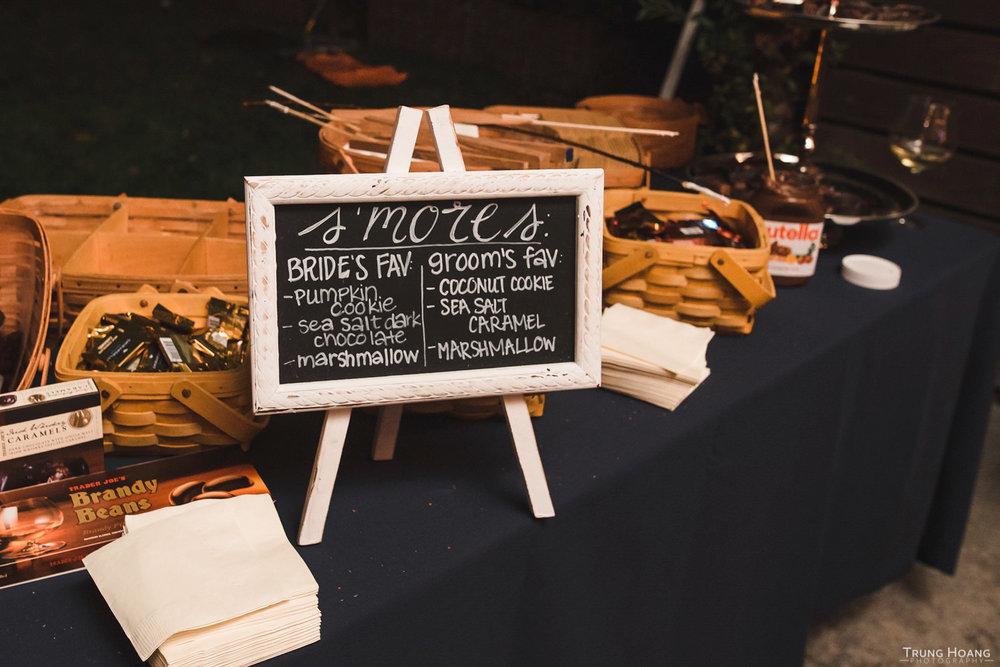 Wedding S'Mores Ideas