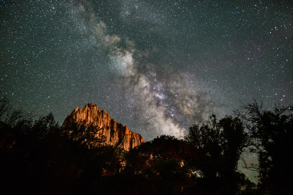 Watching the Milky Way, Zion National Park