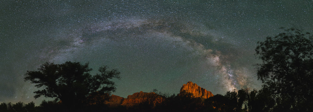 Galaxy over Zion