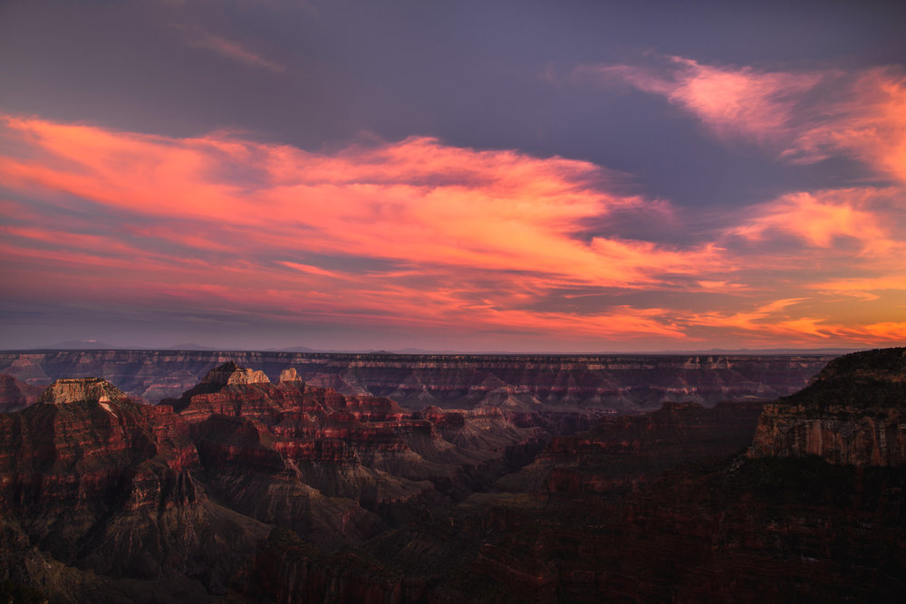 Colorful sunset at the North Rim, Grand Canyon  Photo by Trung Hoang Photography (www.trunghoangphotography.com)