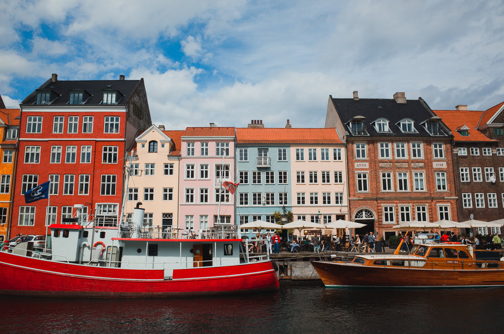 Nyhavn, Copenhagen, Denmark. Uncropped.