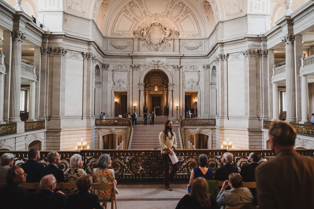 SF City Hall Mayor's Balcony Wedding