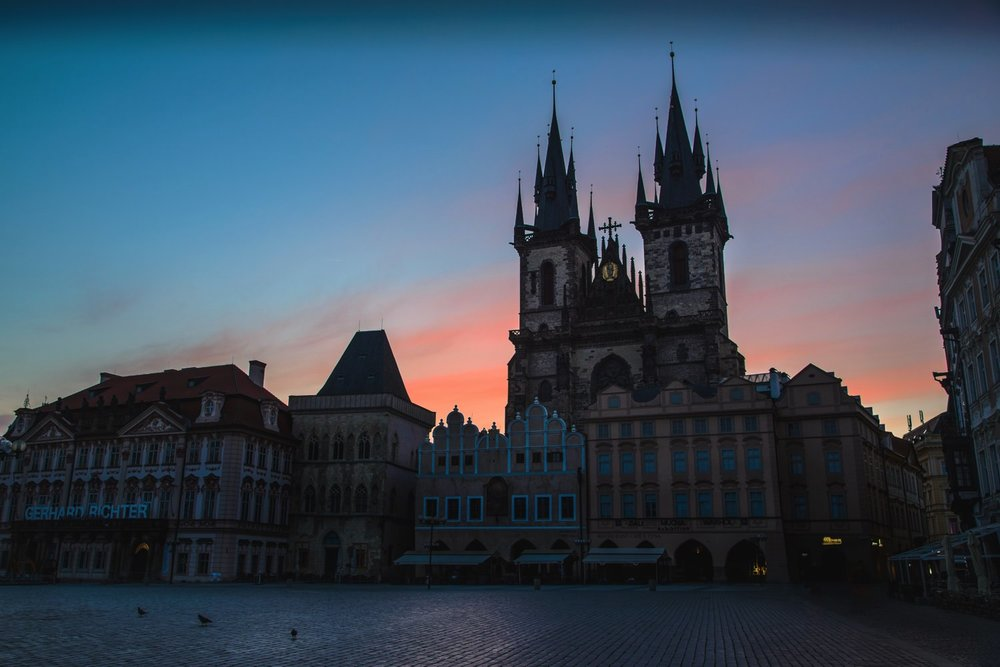 Old Town Square at Sunrise // Prague Travel Photography