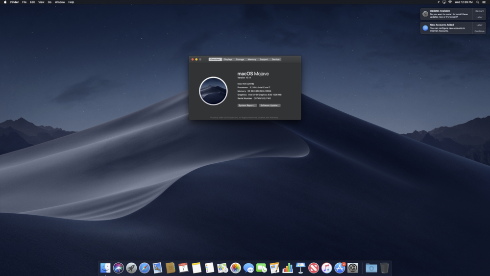 My 2018 Mac Mini, purchased with 8gb of RAM