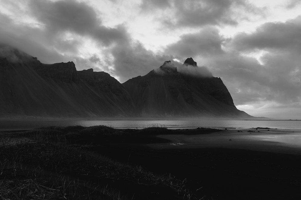 Vestrahorn Black and White