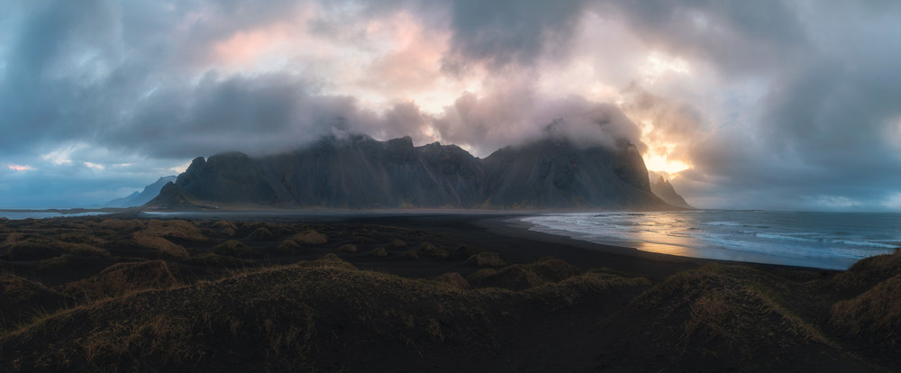 Sunrise at Vestrahorn, Iceland
