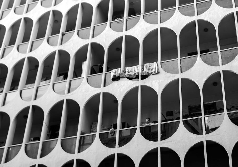 Girl in Balcony